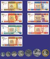 Übersicht der Münzen und Banknoten von Kubas Währung Peso Convertible