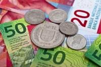 übersicht Banknoten Und Münzen Schweiz Währung Schweizer Franken