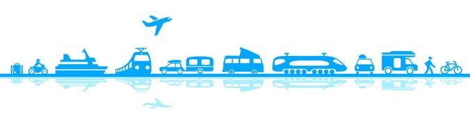 Transportmittel auf Reisen