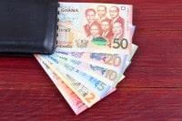 Übersicht Münzen und Banknoten der Währung Ghana Cedi