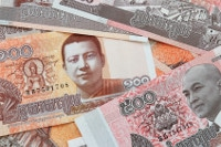 Übersicht Banknoten Kambodschas Währung Riel