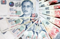 Übersicht Banknoten Singapur Dollar