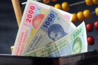 Übersicht Münzen und Banknoten der Währung CFA-Franc BEAC im Tschad