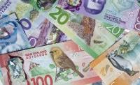 Übersicht Banknoten Niue Währung Neuseeland Dollar