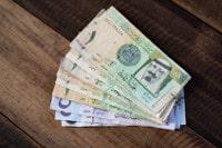 Übersicht Münzen und Banknoten Währung Saudi-Riyal