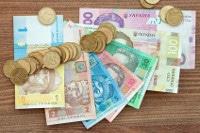 Übersicht Münzen und Banknoten Ukraine Währung Hrywnja