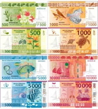 Übersicht Banknoten Wallis Futuna CFP-Franc