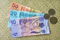Übersicht Banknoten und Münzen Währung Fidschi Dollar