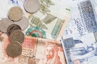 Übersicht Banknoten und Münzen Jordaniens Währung Dinar
