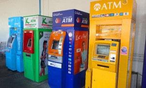 Geldautomaten in Thailand werden als ATM bezeichnet